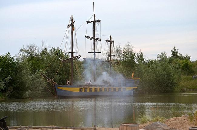Piratenschiff auf dem See