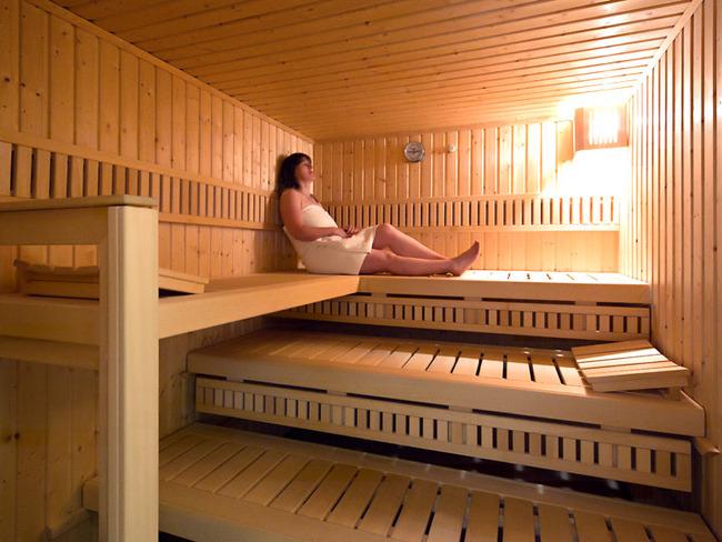 Entspannen in der hauseigenen Sauna