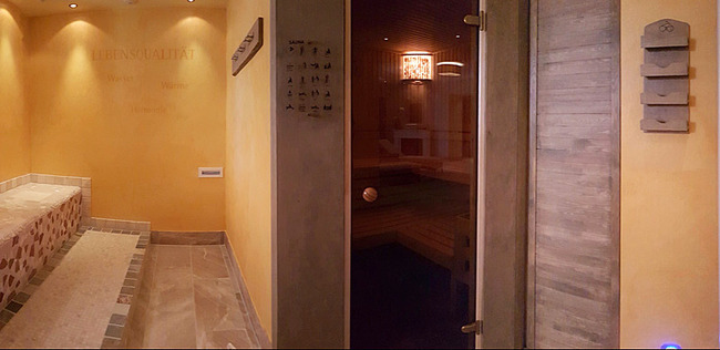 Wellness mit Sauna und Wärmebank