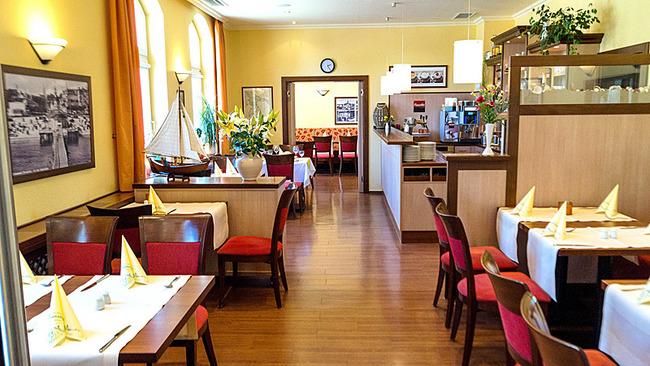 Innenansicht des Frühstücksrestaurants