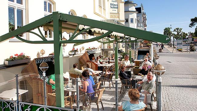 Terrasse des Frühstücksrestaurants