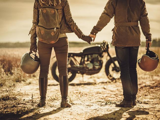motorrad-paar