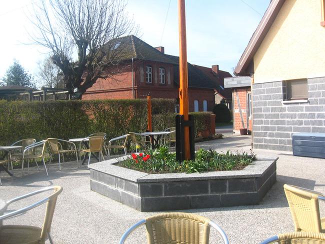 Außenterrasse vom Café