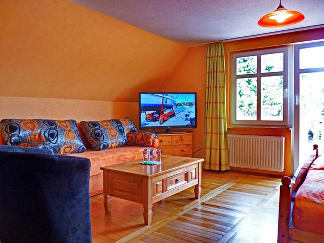 Wohnzimmeransicht einer Ferienwohnung