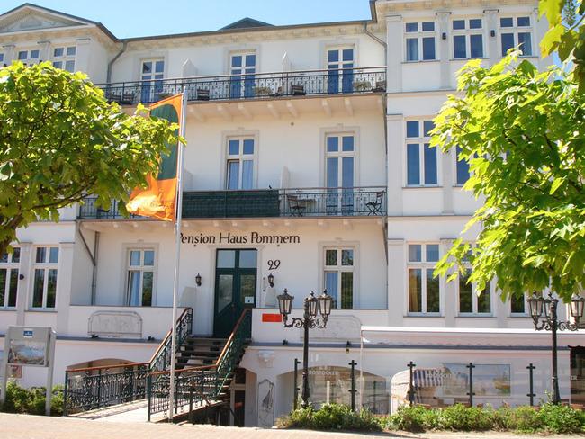 Eingang zur Pension Haus Pommern