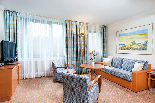 Suite mit großzügigem Wohnraum