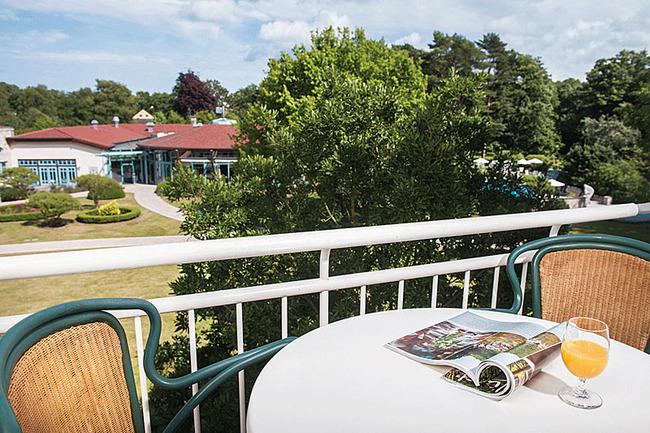 Balkon mit Aussicht zur Gartenseite