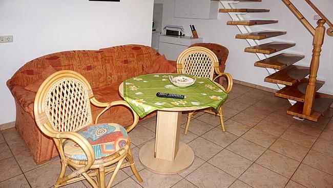 Ferienhaus - Wohnraum mit Sitzecke