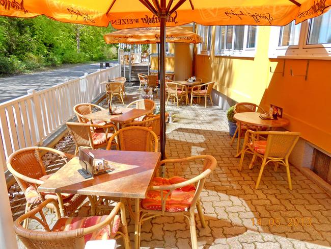Terrasse vom Restaurant