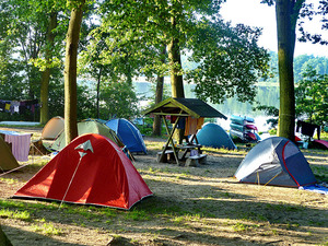 Camping mit Seeblick