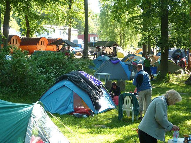 Stellplätze für Zelte