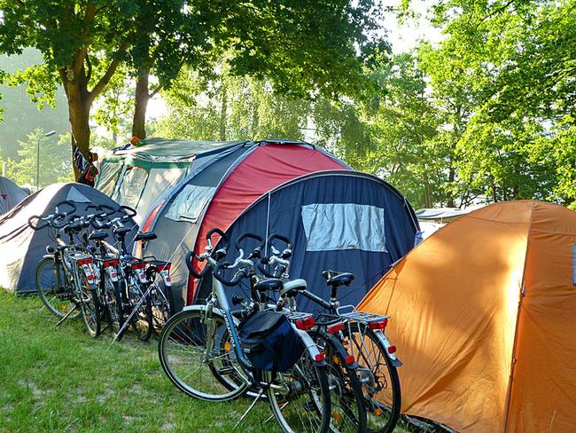 Stellplätze für Radwanderer