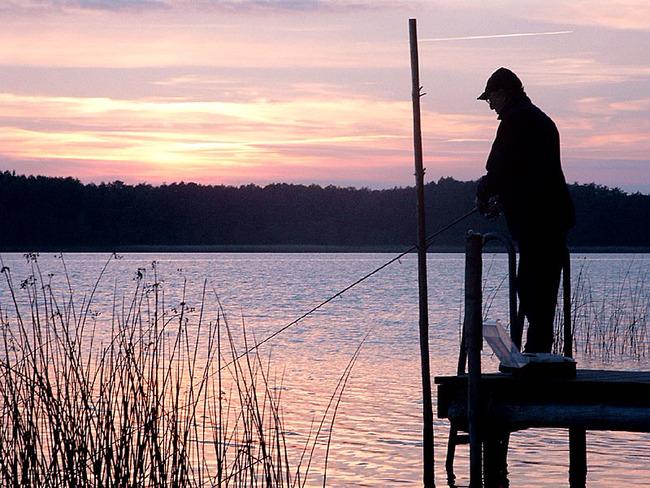 Angler vom Steg