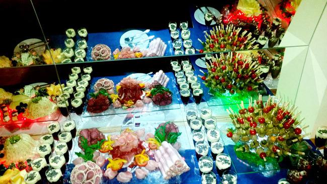 kaltes Buffet für eine Feier im Hotel