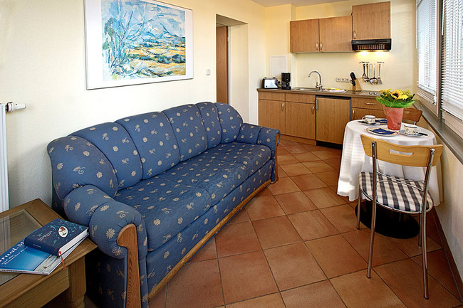 Ferienwohnung für 2 Personen: Veranda mit Küche
