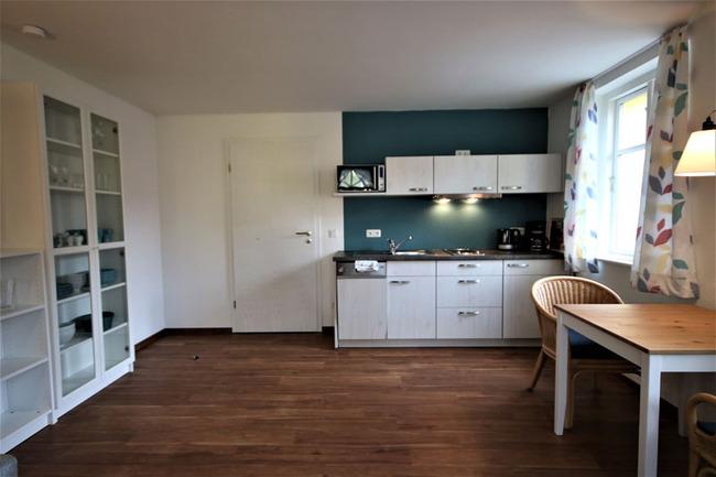 Küche und Esstisch für 2 Personen