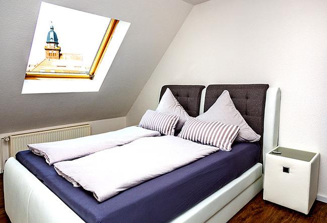 Fewo Meersinn - Schlafzimmer mit Doppelbett