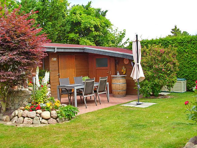 Fewo 1 - Terrasse im Garten