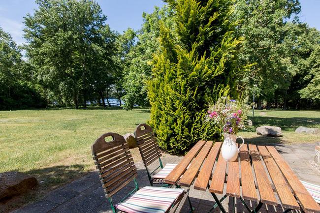 Appartement 4 - Terrasse mit Blick auf den See