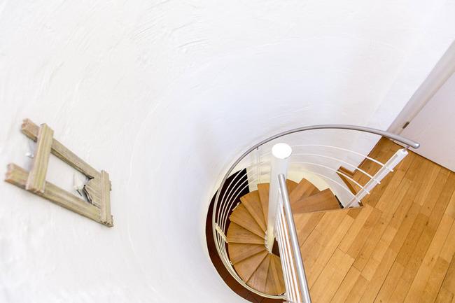 Appartement 1 - Wendeltreppe von oben