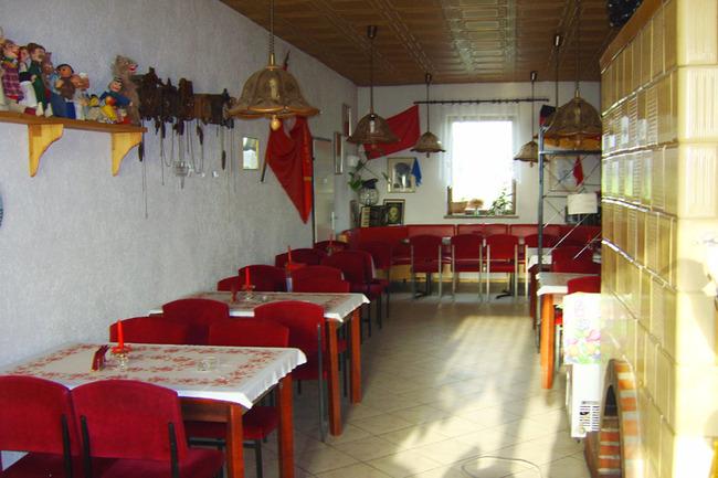 Gaststätte mit Kaminofen