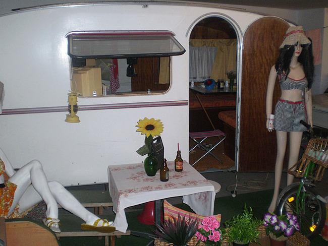 Wohnwagen mit Ausstattung