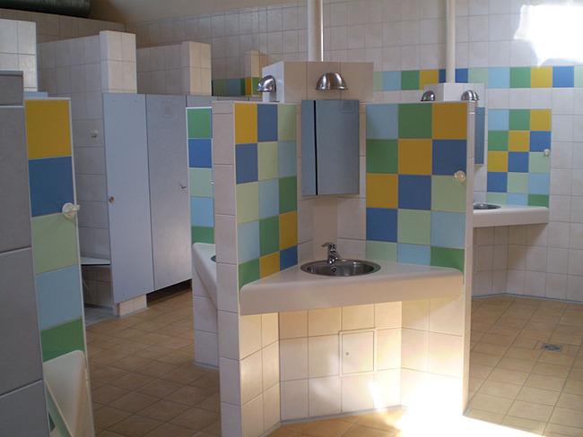 Herrenduschen im Sanitärhaus