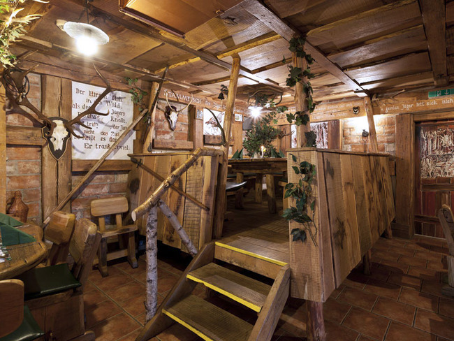 jagdlich ausgestatteter Gastraum