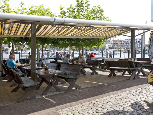 Terrasse vom Restaurant Pier 3