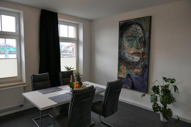 Essbereich im Appartement Meerblick