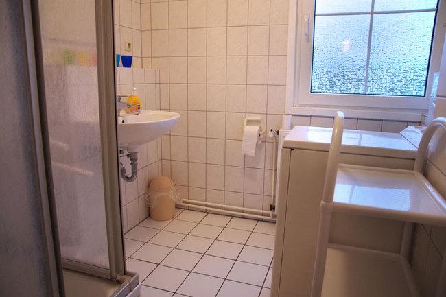Haus Wismar Bad mit Waschmaschine