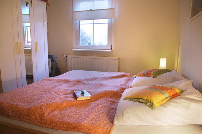 Haus Wismar Schlafzimmer 1 mit Doppelbett