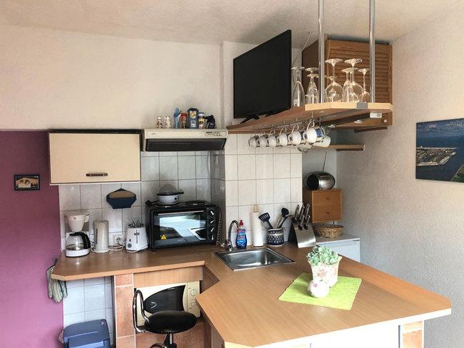 Fewo 1 - Küche mit Sitzplatz
