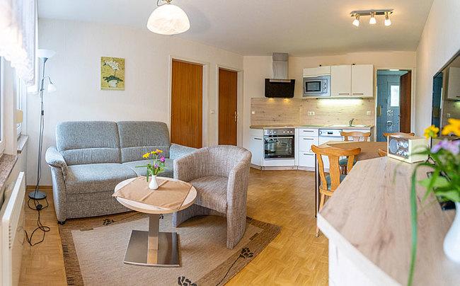 Ferienhaus - Wohnraum und Küche