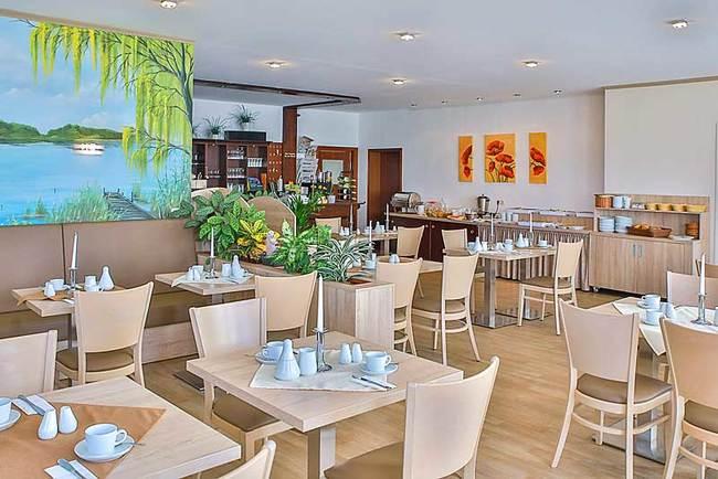 Frühstücksraum in der Ferienanlage