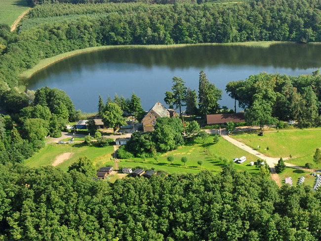 Luftbild Ferienanlage Forsthof Schwarz