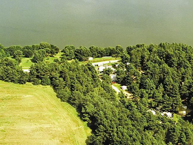 Luftbild vom Pfadfindercampingplatz