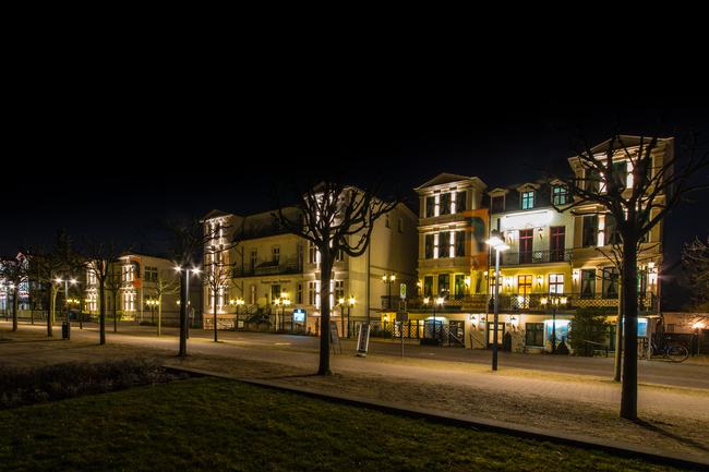 Haus Pommern am Abend