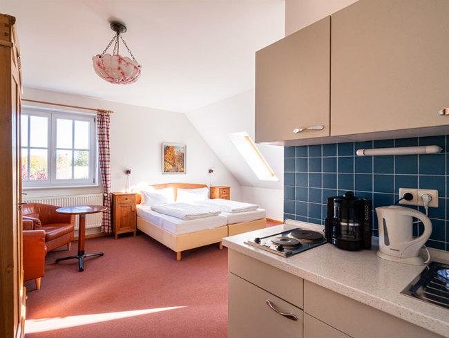 Ein-Raumappartement im Gutshaus Barkow