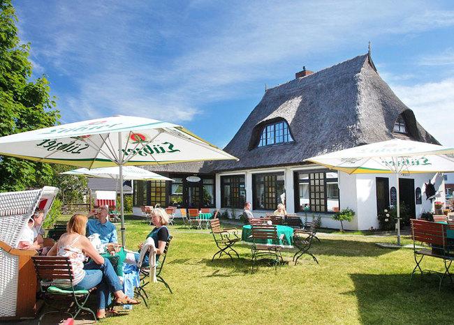 Gartenterrasse des Café & Restaurant
