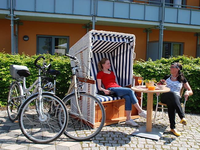 Strandkorb am Hotel zum Relaxen