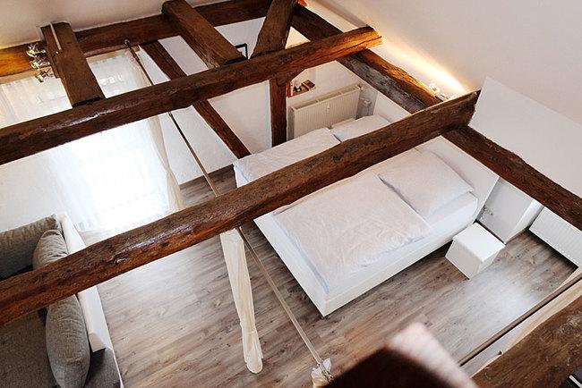 Ferienwohnung Paul - Schlafbereich Blick von oben
