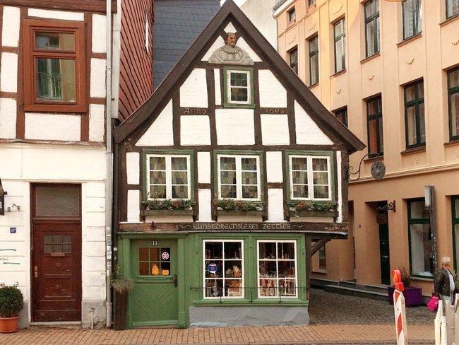 Altes Fachwerkhaus in Schwerin
