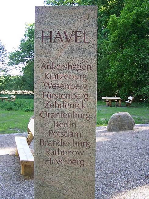 Verlauf der Havel von der Quelle bis in die Elbe