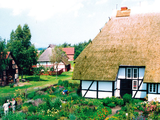 Freilichtmuseum in Klockenhagen   © Stadt Ribnitz-Damgarten
