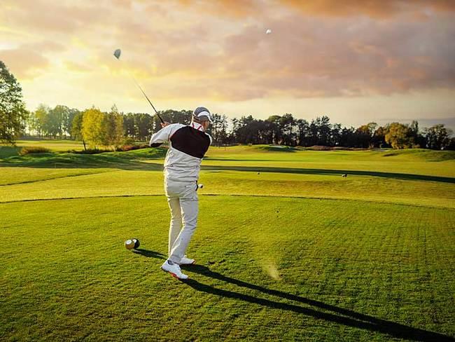 Golfer - kein Original-Foto aus Göhren-Lebbin