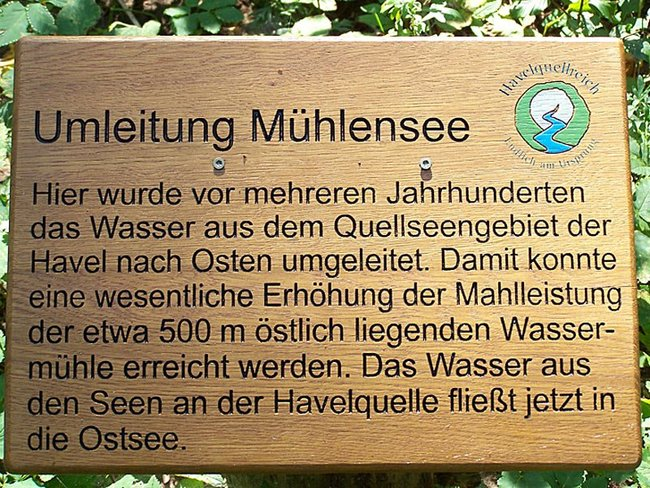 Mühlenbach Tafel