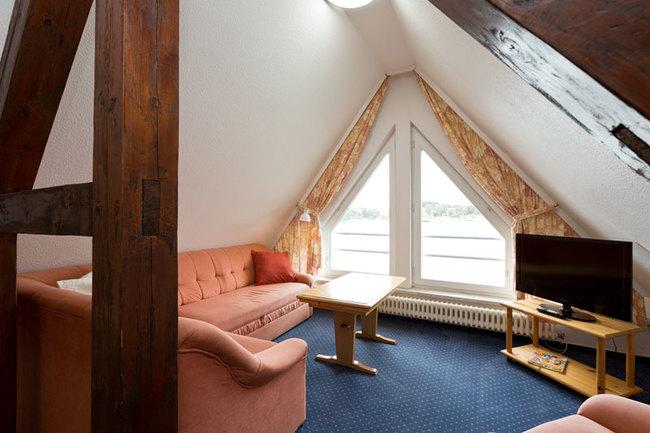 """Suite """"Schiffsbrücke"""" - Wohnbereich"""