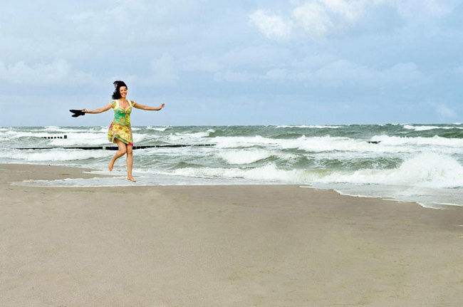 am Strand das Leben genießen