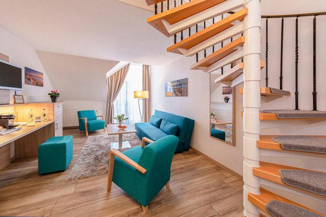 zweigeschossige Suite - Wohnraum
